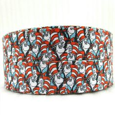Grosgrain Ribbon Cat in the Hat Dr Seuss 2 or Wedding Gift Wrapping, Grosgrain Ribbon, Hair Bows, Handmade, Ebay, Ribbons, Yards, Printed, Awesome