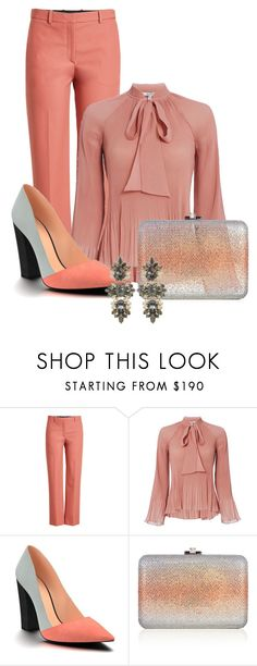"""""""Untitled #3683"""" by janicemckay ❤ liked on Polyvore featuring Theory, 10 Crosby Derek Lam, Shoes of Prey, Judith Leiber and Anton Heunis"""