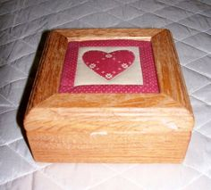 Vintage Wooden Red Heart Quilt Top Box by SheCollectsICreate