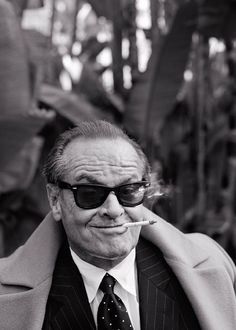 With my sunglasses on, I'm Jack Nicholson. Without them, I'm fat and Jack Nicholson Jack Nicholson, Kino Movie, Looks Cool, Famous Faces, Make Me Smile, Movie Stars, I Laughed, Actors & Actresses, Famous People