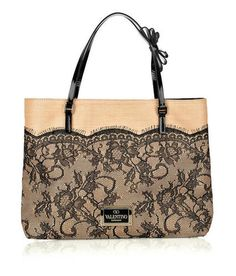 Valentino Raffia Bag with lace detail