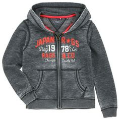 Japan Rags full zip dark grey fleece hoodie on shopstyle.co.uk