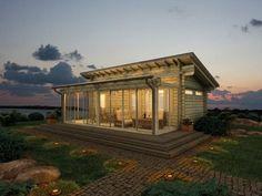 modern sauna hut