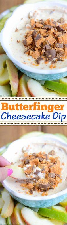 Butterfinger Cheesecake Dip