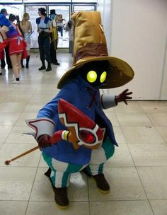 vivi, final fantasy ix (but could easily pass for Orko from He-Man with a little red :)