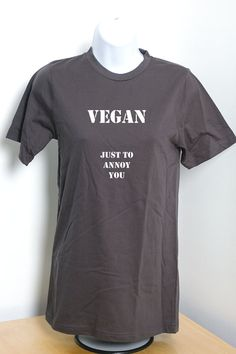 Vegan T-shirt 100% Certified Organic Cotton Tshirt by VeganeseTees