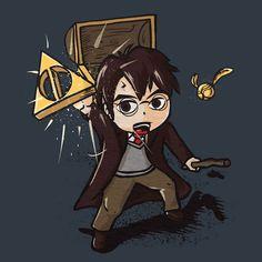 Zelda Harry Potter Tee Triforce Deathly Hallows Shirt – Wear Viral