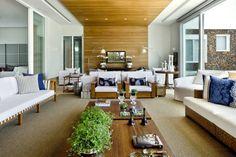Casa Térrea: Salas de estar Moderno por Ana Paula e Sanderson Arquitetura