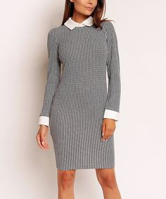 This Nommo Black & White Houndstooth Sheath Dress by Nommo is perfect! #zulilyfinds