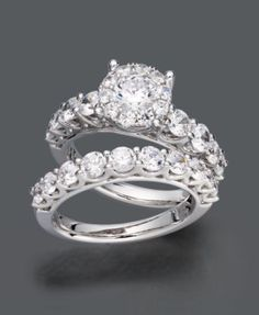 Prestige Unity Diamond Ring Set, 14k White Gold Diamond Bridal Ring Set (2 ct. t.w.)