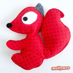 MollyMoo – crafts for kids and their parents Handmade Felt Squirrel Toy