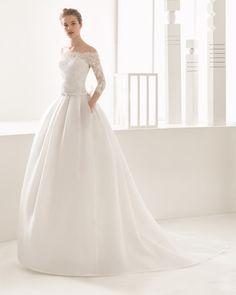 Narciso vestido de novia Rosa Clará 2017