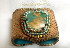 Blue Desert An Art Piece Bracelet / Cuff created by Lynn Parpard Of A Kind Art Piece on Etsy, $210.00