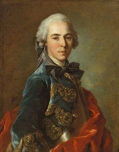Portrait of a young officer - Louis Tocqué.