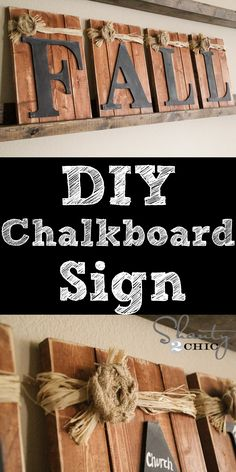 Love this DIY Chalkboard Sign!