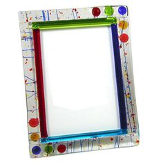 fused glass | Fused Glass Picture Frame- 5x7 G214.08