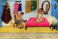 Мартина Гонзалес бесконечно благодарна Святому Антонию за то, что после долгих молитв и многих свечек, поставленных в церкви, муж снова удовлетворил её.    Томатиан, Халиско. 8 марта 1958.