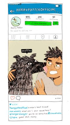bloodyhellharry: If Harry Potter characters had instagram. I was never a huge fan of mixing Harry Potter and social media, but I guess the times are changing and these were actually really fun to make.