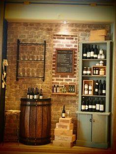 bar a vin por N original Miniature Rooms, Miniature Furniture, Dollhouse Furniture, Caves, Wine Cellar Design, Mini Terrarium, Tiny World, Barbie Furniture, Miniture Things
