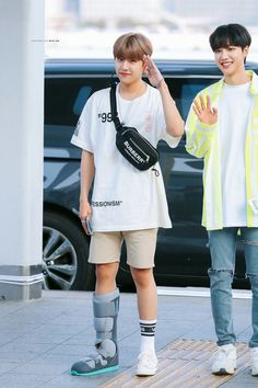 190705 Park Woojin at ICN Airport heading to Hong Kong for SBS Super Concert