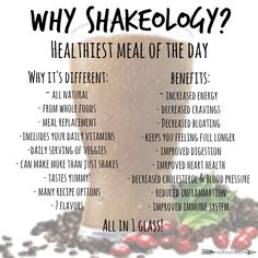 Shakeology: Healthiest Meal of the Day! Dessert for breakfast? Yes please.