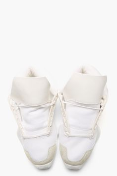 RICK OWENS White Island Sole adidas Edition Sneakers