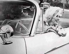 Marilyn Monroe in a 1962 Chrysler Convertible.