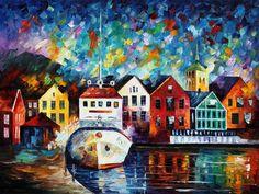 Denmark — PALETTE KNIFE Oil Painting on Canvas by AfremovArtStudio. Official Shop: https://www.etsy.com/shop/AfremovArtStudio