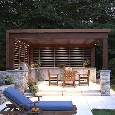 This open-air pool house was designed to complement a mid-century home in the rural town of pound ridge, new york. opting for a pavilion with an outdoor Backyard Pavilion, Backyard Pergola, Small Pergola, Pool Gazebo, Outdoor Pavilion, White Pergola, Pergola Cover, Outdoor Pool, Outdoor Spaces