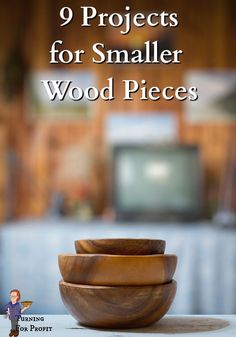 Here's 9 ideas for the smaller pieces in your wood stash to produce useful items. The smaller branches and cutoffs give you extra practice while adding beautiful stock to your inventory for seasonal sales. Way To Make Money, How To Make, Wood Turning Projects, Cutoffs, Wooden Bowls, Wood Pieces, Woodturning, New Hobbies, Lathe