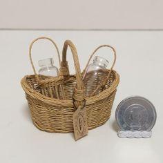 miniature basket ミニチュア ミニチュアバスケット dollhouse miniature