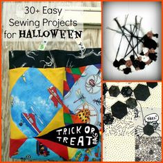 Over 30 easy sewing projects for Halloween including, bags, applique and quilts   patchworkposse.com