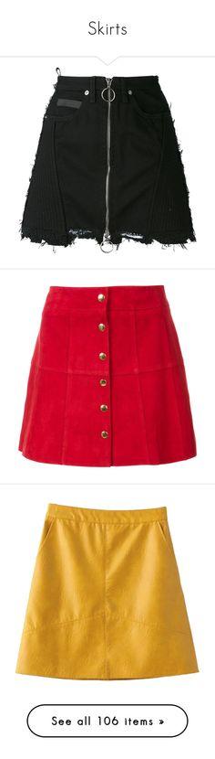 """Skirts"" by janjanzira-1 ❤ liked on Polyvore featuring skirts, mini skirts, bottoms, saias, faldas, black, ripped skirt, county of milan, zip skirt and mini skirt"
