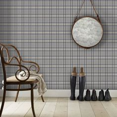 The wallpaper Rut blå - from Sandberg is wallpaper with the dimensions m x m. The wallpaper Rut blå - belongs to the popular wallpaper c Checker Wallpaper, Tartan Wallpaper, Wallpaper Size, Modern Wallpaper, Pattern Wallpaper, Wallpaper Ideas, Hallway Wallpaper, Interior Wallpaper, Yurts