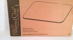 NEW IN BOX Pampered Chef Rectangle Stone 1350 Bakeware Pizza Baking Stoneware #PamperedChef