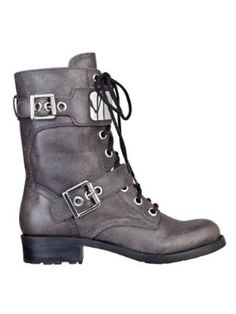 GUESS Ludlow Lace-Up Combat Boots, PEWTER LEATHER (8 1/2) GUESS. $179.00