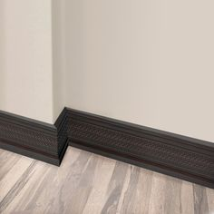 Visually stunning, high-end interior moulding for traditional and transitional rooms. Dreamy, deep brown boards with 3D weaved textured accents. Matching pairs of base and crown mouldings. Add a touch