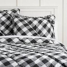 The Emily & Meritt Bed of Roses Comforter + Sham, Black/Pink