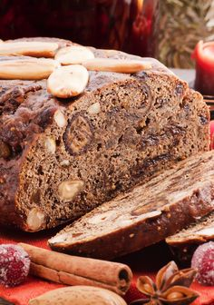 Moist and nutty Festive Fruit & Nut Loaf Rana Pasta, Nut Loaf, Healthy Dessert Recipes, Desserts, Steak, Cookies, Chocolate, Fruit, Food