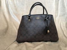Coach Black/Brown Monogram Handbag #Coach #Satchel. US $129.99 on eBay.