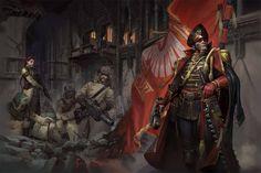 ArtStation - Ciaphas Cain: Choose Your Enemies, Vladimir Krisetskiy Warhammer Imperial Guard, 40k Imperial Guard, Warhammer 40k Art, Warhammer Fantasy, Diesel Punk, Fantasy Battle, Sci Fi Fantasy, Ice Warriors, Character Art