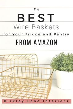 I have found the BEST wire baskets for organizing! Use my favorite refrigerator organization hacks to keep your fridge and pantry shelves easy to access with these amazing baskets! #birkleylaneinteriors #fridge #organizedfridge #basketsfororganizing #baskets #wirebaskets #shoppingguide #hacks #cleaning via @birkleylane