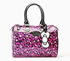 Hello Kitty Pink Leopard Print Bag from Loungefly -- Sherilyn would love this. Hello Kitty Handbags, Hello Kitty Purse, Hello Kitty Items, Leopard Handbag, Leopard Print Bag, Cheetah, Hello Kitty Accessories, Miss Kitty, Hello Kitty Collection