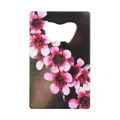#pretty - #Pretty Pink Flowers Credit Card Bottle Opener