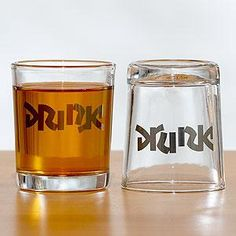 $13 drink/drunk shot glasses - I have a few people in mind these would be perfect for! could probably make them with glass etch