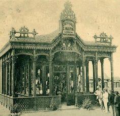 image.jpg (558×539)Viareggio ( LU )  Negozio Martini 1899  (in wood) -1920 (in concret)        Arch. Modesto Orzali  Foto d'epoca.