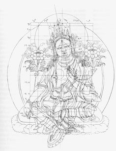 Tara proportions Tibetan Mandala, Tibetan Art, Buddha Kunst, Buddha Art, Thangka Painting, Buddha Painting, Tantra Art, Thailand Art, Buddha Tattoos