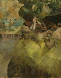 Edgar Degas. Yellow Dancers (In the Wings), 1874/76. Gift of Mr. and Mrs. Gordon Palmer, Mrs. Bertha P. Thorne, Mr. and Mrs. Arthur M. Wood, and Mrs. Rose M. Palmer.