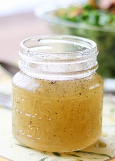White Balsamic Vinaigrette is the ultimate summer salad dressing! - get the recipe at barefeetinthekitchen.com