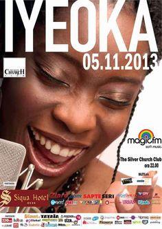 Concertul din Bucuresti va avea loc in 5 noiembrie, in Silver Church Club. La Cluj‑Napoca, Iyeoka va sustine doua concerte in seara de 7 noi...